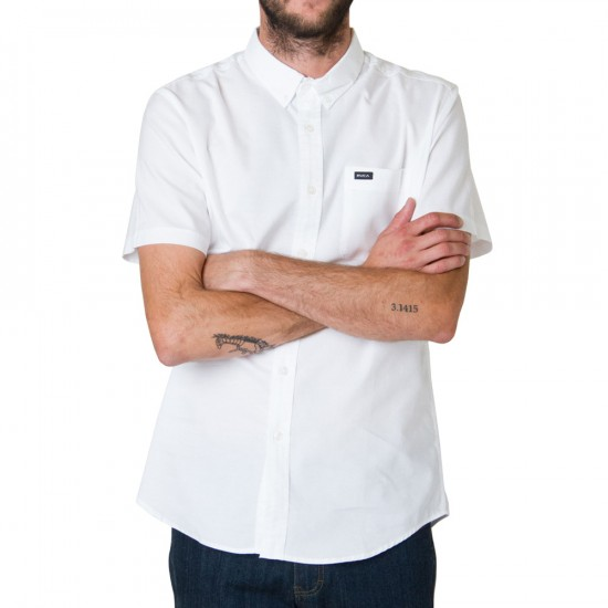 RVCA That'll Do Oxford Short Sleeve Woven Shirt - White