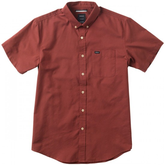 RVCA That'll Do Short Sleeve Shirt - Rosewood