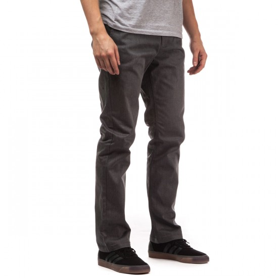 RVCA The Week-End Pants - Charcoal Heather - 28 - 32