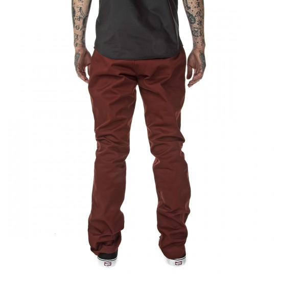 RVCA The Week-End Pants - Red Earth - 28 - 32