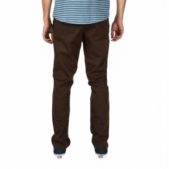 RVCA The Week-End Stretch Pants - Chocolate