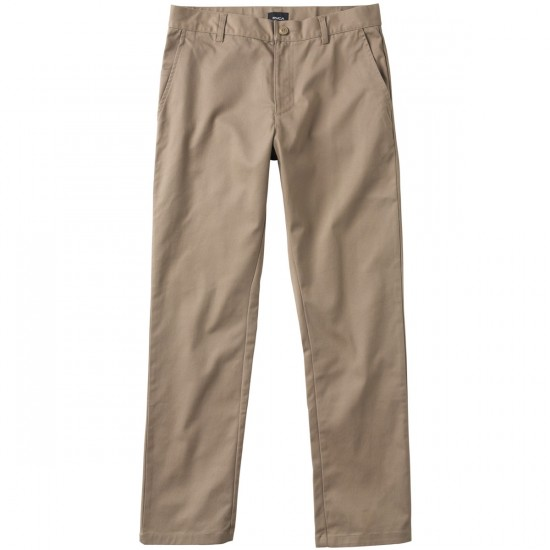 RVCA The Week-End Stretch Pants - Dark Khaki - 28 - 32