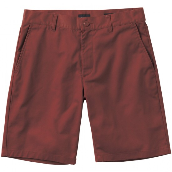 RVCA The Weekend Stretch Shorts - Red Earth