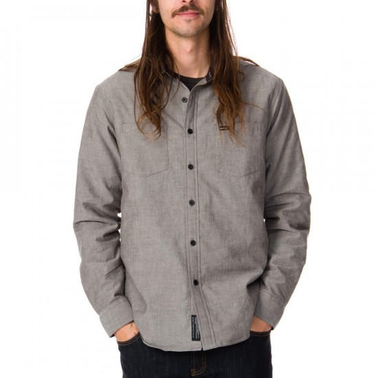RVCA Thicky Long Sleeve Shirt - Coalmine