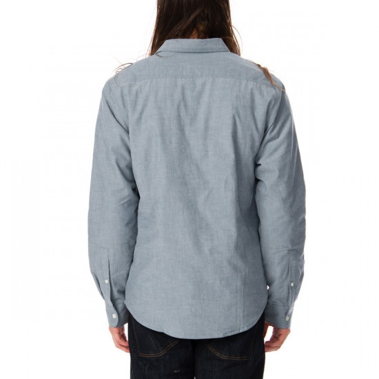 RVCA Thicky Long Sleeve Woven Shirt - Blue