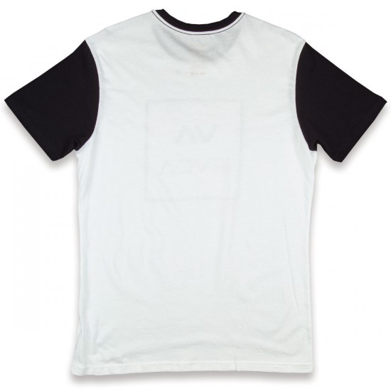 RVCA VA All The Way T-Shirt - White with Black