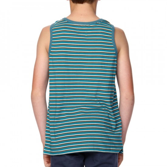 RVCA Sanity Youth Tank - Azulejo