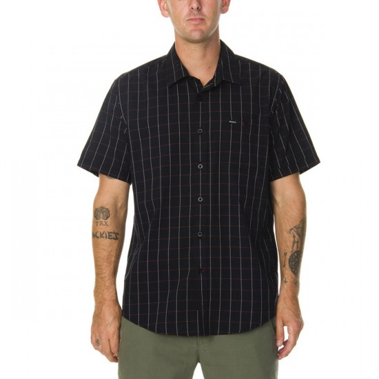 RVCA Zapata Short Sleeve Woven Shirt - Black