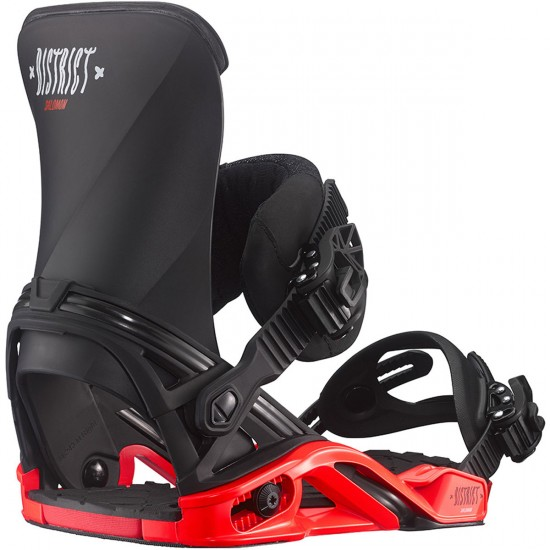 Salomon District Snowboard Bindings - Black/Red