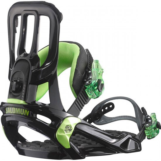 Salomon Rhythm Snowboard Bindings - Black/Green