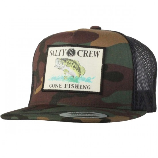 Salty Crew Big Mouth Trucker Hat - Camo