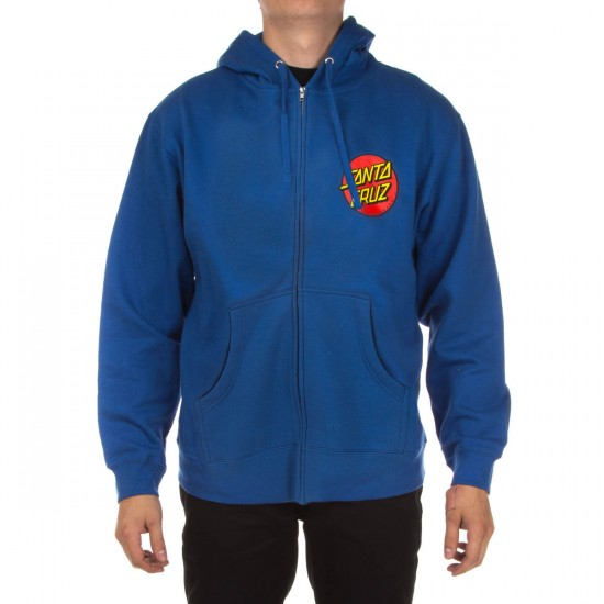 Santa Cruz Classic Dot Hooded Zip Hoodie - Royal Blue