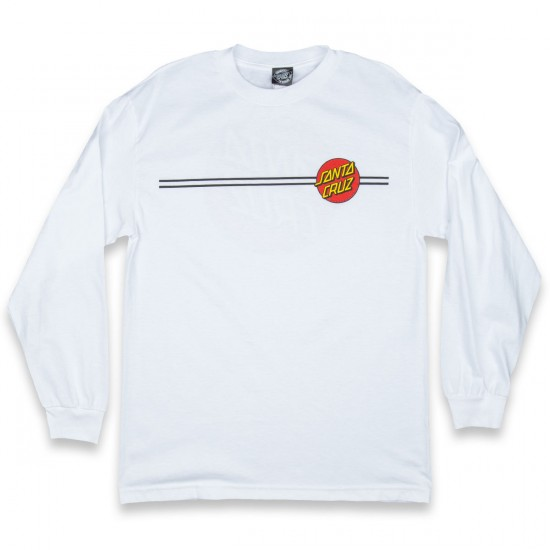 Santa Cruz Classic Dot Long Sleeve T-Shirt - White