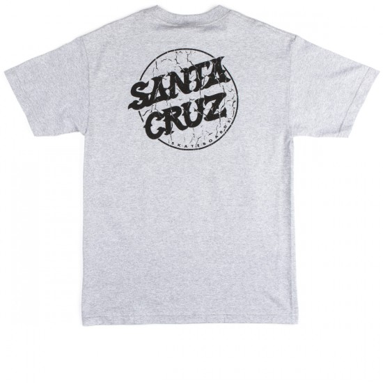 Santa Cruz Cracked Dot T-Shirt - Athletic Heather
