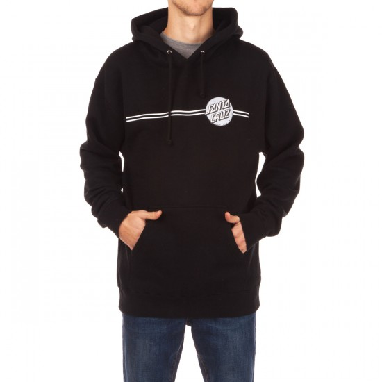 Santa Cruz Other Dot Pullover Hoodie - Black with Silver