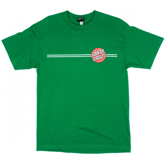 Santa Cruz Other Dot T-Shirt - Kelly with Red