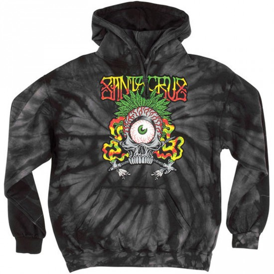 Santa Cruz Rasta Tribe Pullover Hooded Sweatshirt - Spider Black