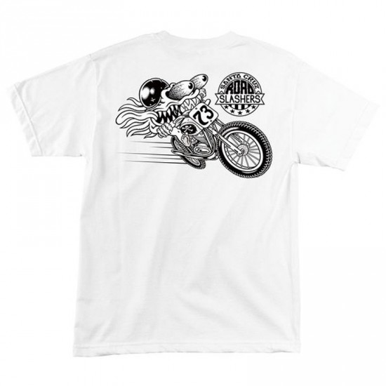 Santa Cruz Road Slasher T-Shirt - White