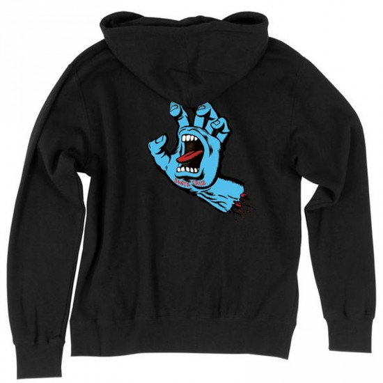 Santa Cruz Screaming Hand Pullover Hoodie - Black