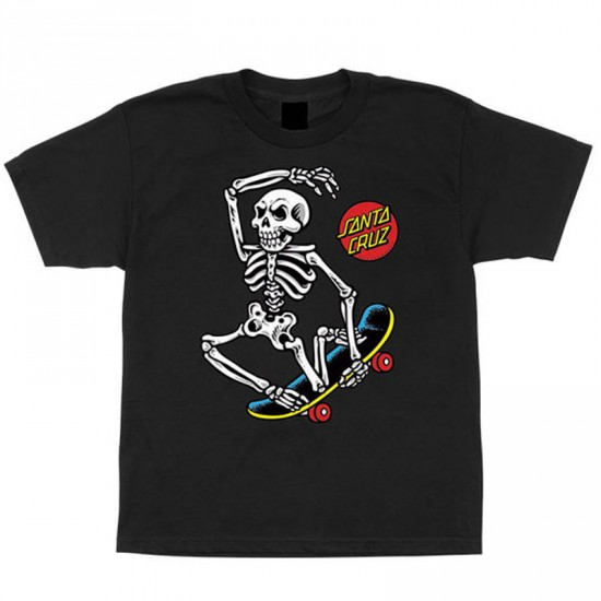 Santa Cruz Skate Riot Youth T-Shirt - Black