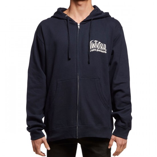 Santa Cruz Jessee SunGod Zip Up Hoodie - Navy
