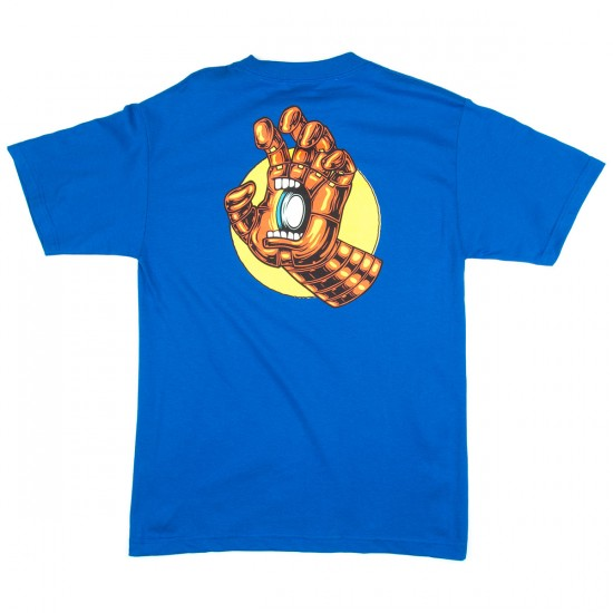 Santa Cruz X Marvel Iron Man Hand Short Sleeve T-Shirt - Royal Blue