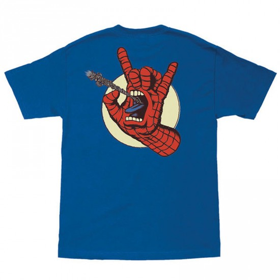 Santa Cruz x Marvel Spiderman Hand T-Shirt - Royal Blue