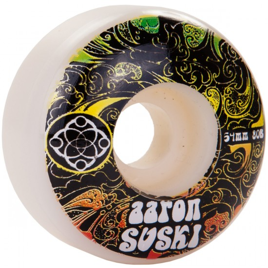 Satori Aaron Suski Rasta Clouds Skateboard Wheels - 54mm - 80b