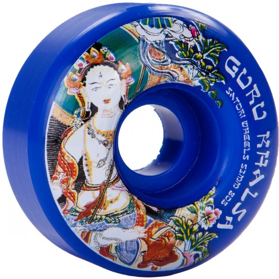 Satori Guru Khalsa Thangka Skateboard Wheels - Blue - 53mm - 80b