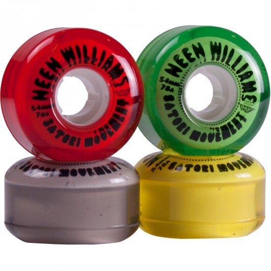 Satori Neen Williams Ites Rasta Skateboard Wheels 54mm 78a