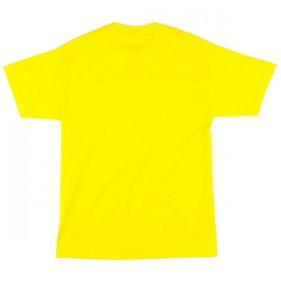 Shake Junt Box Logo Outline T-Shirt - Yellow