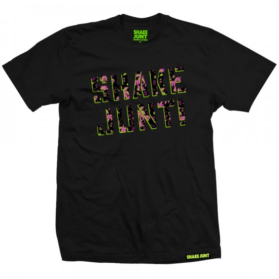 Shake Junt Spray Logo Casual Friday T-Shirt - Black