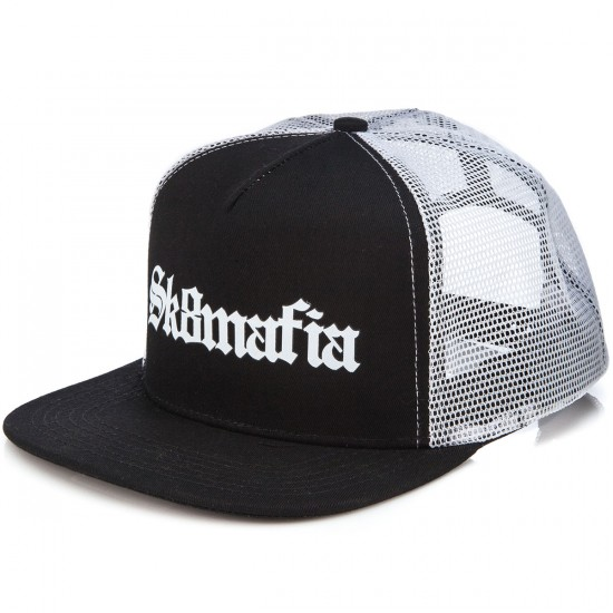 Sk8 Mafia Old E Trucker Hat - Black