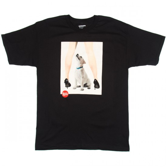 Skate Mental Curious Dog T-Shirt - Black