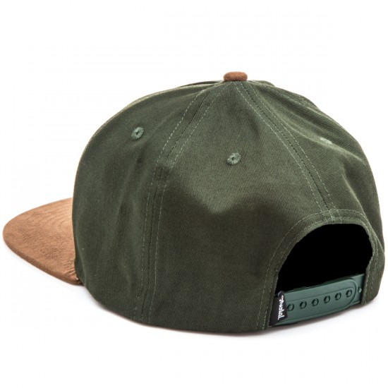 Skate Mental Don't Get Lost Snapback   Hat - Green/Suede Brim