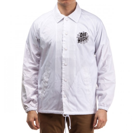 Sketchy Tank Die High Coaches Jacket - White