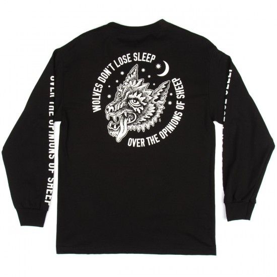 Sketchy Tank Sleep Long Sleeve T-Shirt - Black