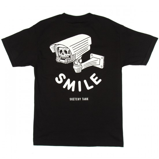 Sketchy Tank Smile T-Shirt - Black
