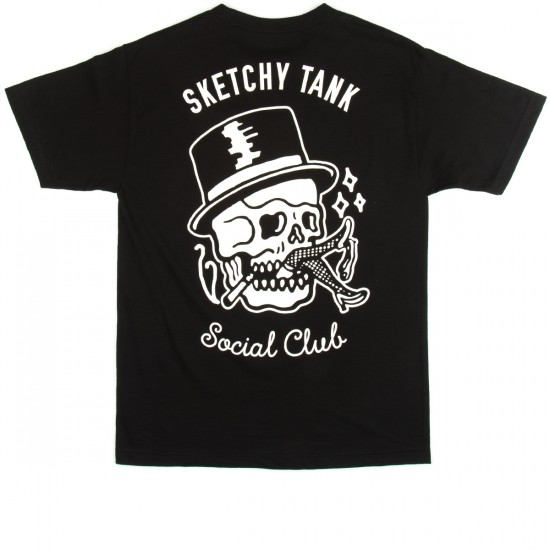 Sketchy Tank Social Club T-Shirt - Black