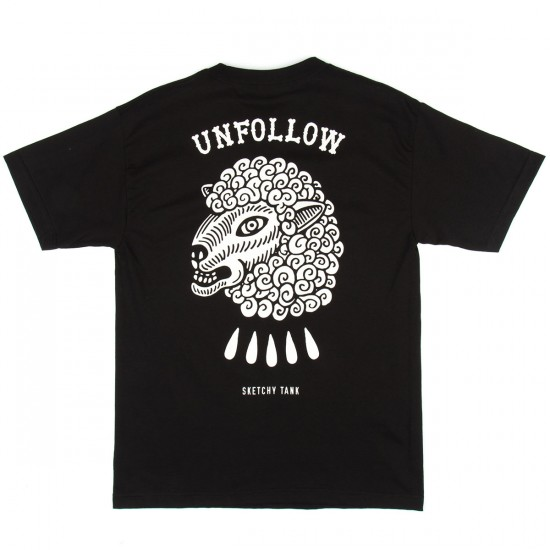 Sketchy Tank Unfollow T-Shirt - Black