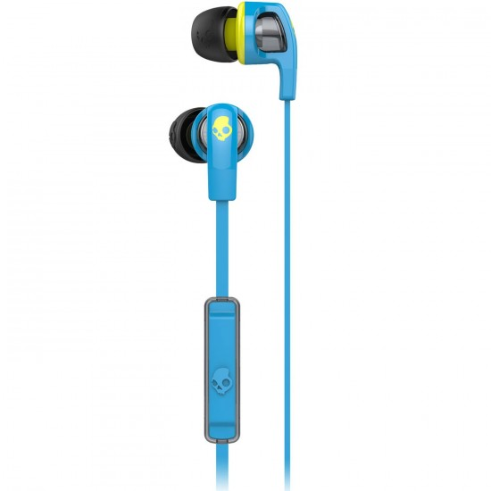 Skullcandy Smokin Buds 2 Mic1 Headphones - Hot Blue / Hot Lime
