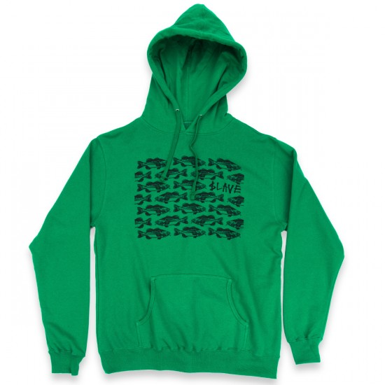 Slave Bass Destruction Pullover Hood Sweatshirt - Green/Black