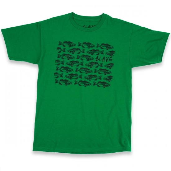 Slave Bass Destruction T-Shirt - Green/Black