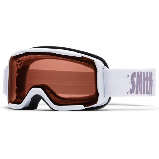 Smith Daredevil Youth Snowboard Goggles - White with Rc36