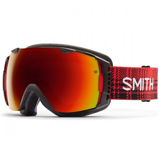Smith I/O Snowboard Goggles - Woolrich Hunter with Red Sol X Mirror