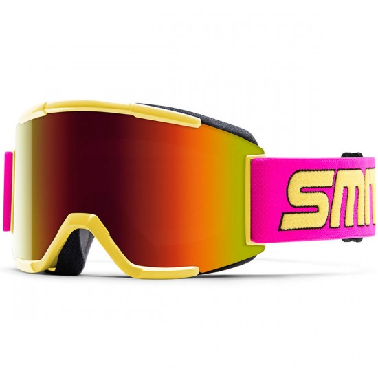 Smith Squad Snowboard Goggles - Stevens Id 1991 with Red Sol X Mirror