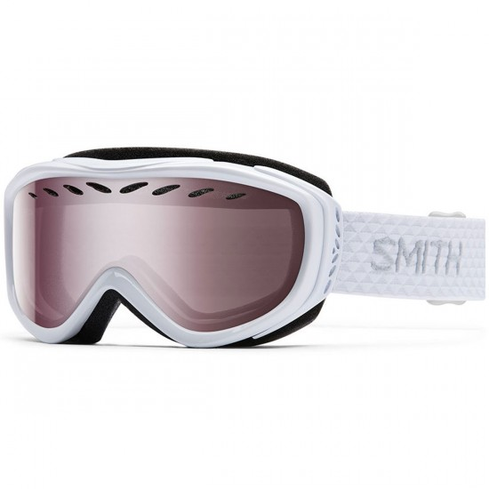 Smith Transit Snowboard Goggles - White with Ignitor Mirror