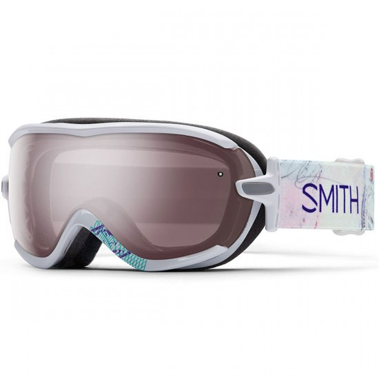 Smith Virtue Snowboard Goggles - White Wanderlust with Ignitor Mirror