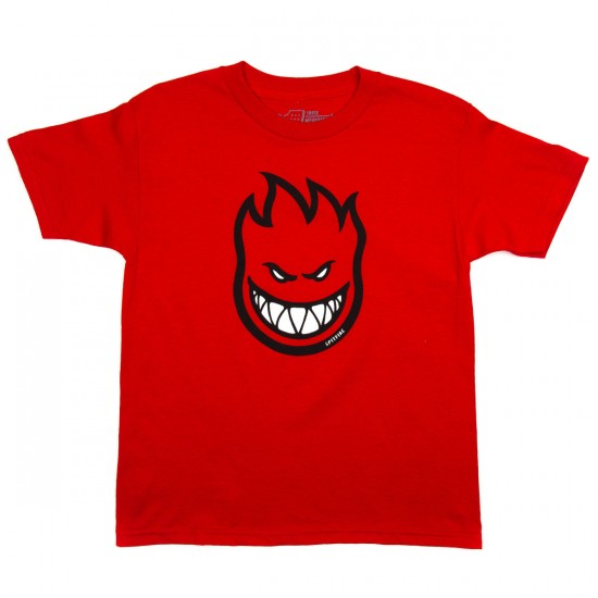 Spitfire Bighead Fill Youth T-Shirt - Red/Black