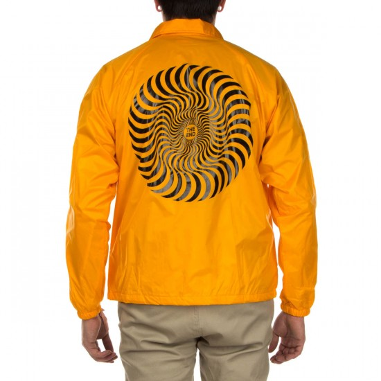 Spitfire Classic Swirl Coaches Jacket - Yellow with Black
